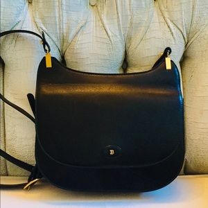 BALLY Black Italian Leather High Quality Bag